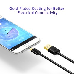 Tronsmart MUPP1 Premium USB Cables 3 Pack (3.3ft*3 ) with Gold Connector