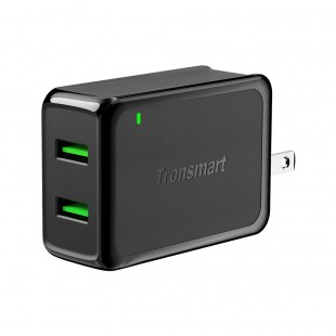 Tronsmart W2TF 36W Cargador de Pared con Doble Puerto Qualcomm Quick Charge 3.0&VoltiQ